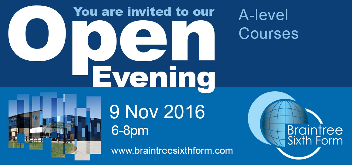 Braintree Sixth Form Open Evening - 9 November 2016