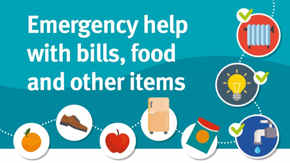 Emergency help with bills, food and other items