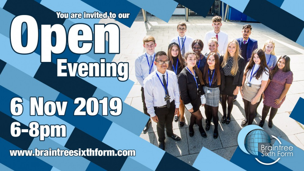 Open Evening for Year 12 intake September 2020