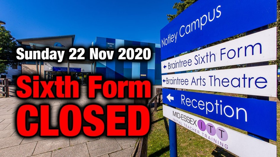 School & Sixth Form CLOSED - 22 Nov 2020
