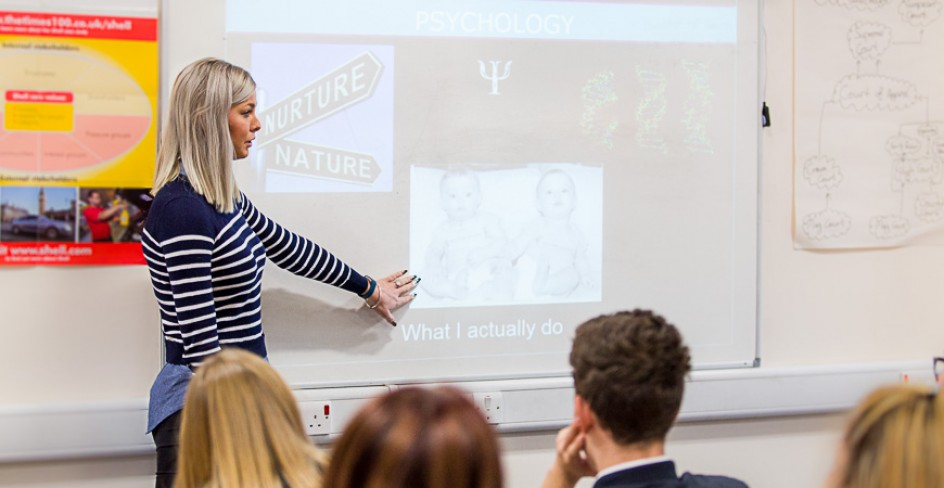 PhD student Tuesday Watts visits Braintree Sixth Form